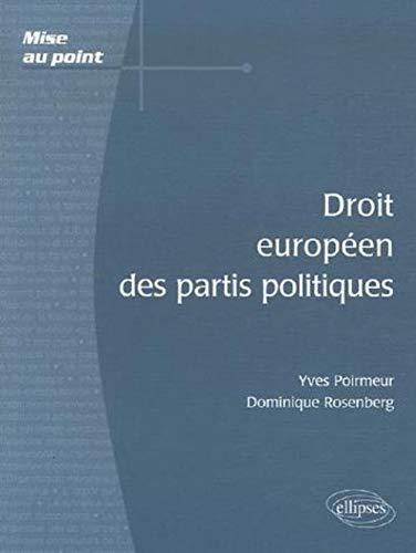 9782729831424: Droit européen des partis politiques