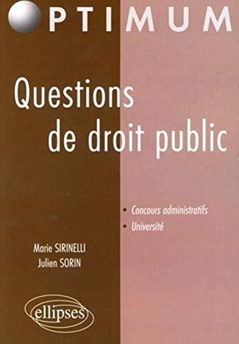 9782729833978: Questions De Droit Public