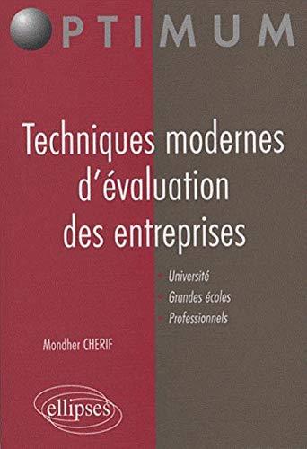 9782729834760: Techniques modernes d'�valuation des entreprises