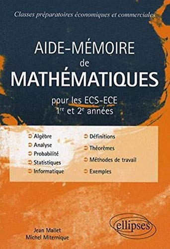 9782729835835: Aide-Mémoire de Mathématiques : ECS-ECE 1re et 2e années
