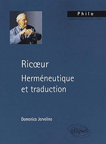 9782729836061: Ricoeur : Herméneutique et traduction