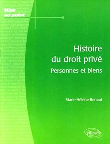 9782729837280: Histoire du droit priv� : Personnes et biens