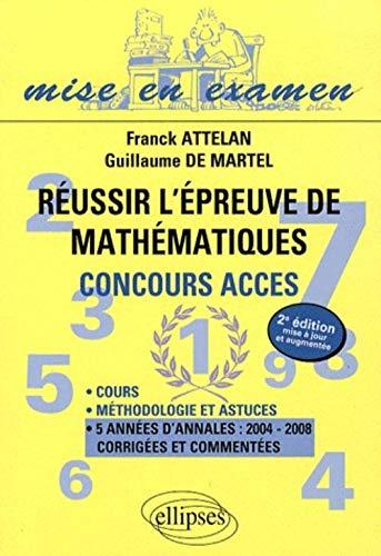 9782729837419: Réussir l'épreuve de mathématiques (French Edition)