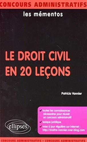 9782729838188: Le droit civil en 20 leçons