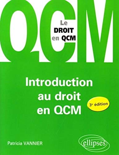 Introduction au Droit en Qcm Troisième Edition