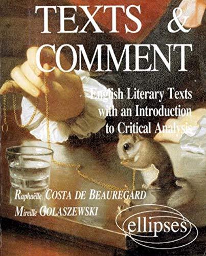 Texts & comment : motifs pour une �tude th�matique et...