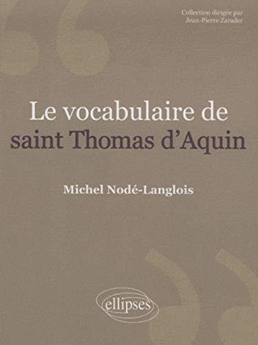 9782729841805: Le vocabulaire de saint Thomas d'Aquin