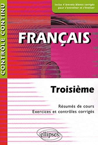 9782729850609: Français 3e Contrôle continu