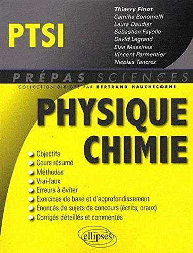 9782729851149: Physique-chimie PTSI (French Edition)
