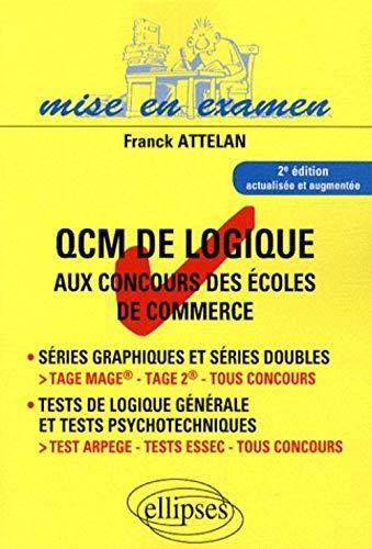 9782729851293: QCM de logique aux concours des écoles de commerce (French Edition)