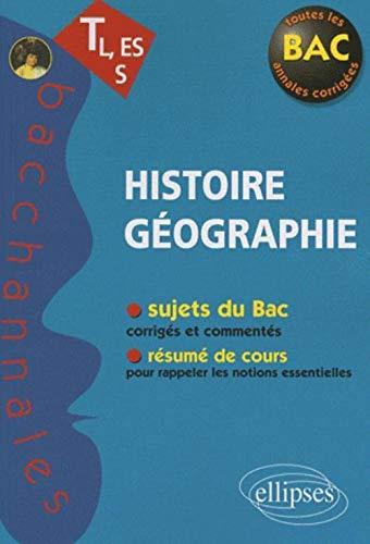 9782729852344: Histoire G�ographie TL, ES, S