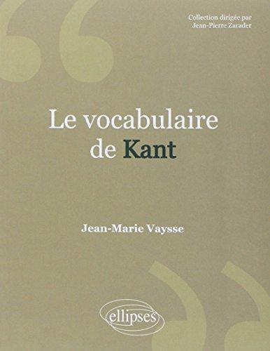 9782729853518: Le vocabulaire de Kant