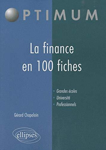 9782729856892: La finance en 100 fiches