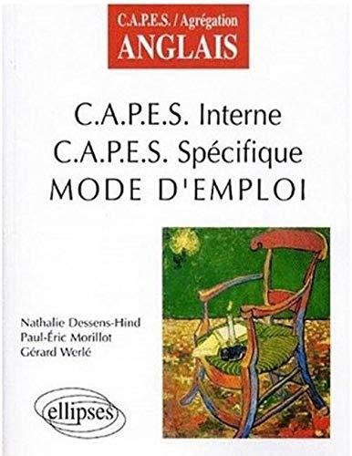 9782729857318: CAPES interne, CAPES sp�cifique : Mode d'emploi