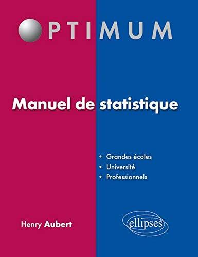 9782729862176: Manuel de Statistique