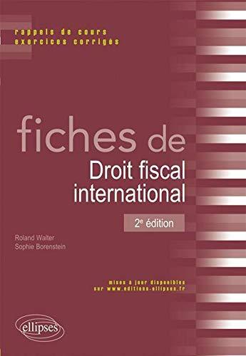 9782729865238: fiches de droit fiscal international (2e édition)