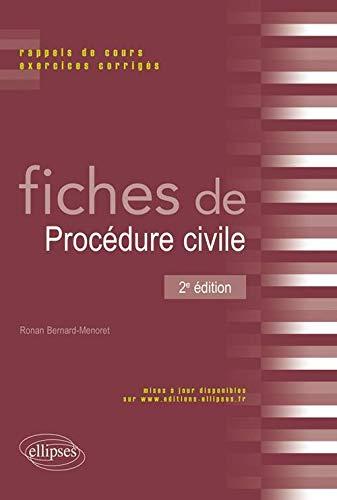 9782729865290: Fiches de Procédure civile (French Edition)