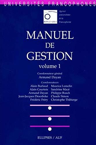 9782729869434: Manuel de gestion, volume 1