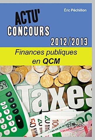9782729870669: Finances publiques en QCM : 2012-2013