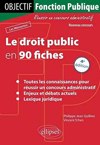 9782729870881: le droit public en 90 fiches 4eme edition