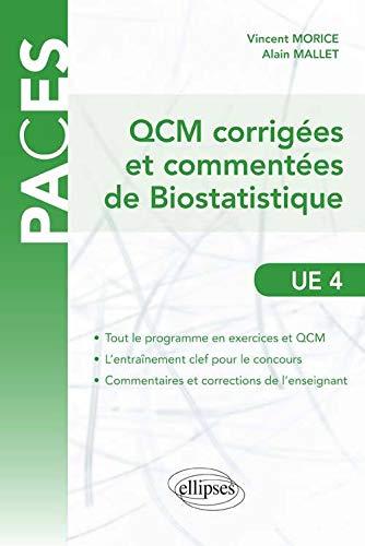 9782729871871: QCM corrigées & commentées de Biostatistique UE 4