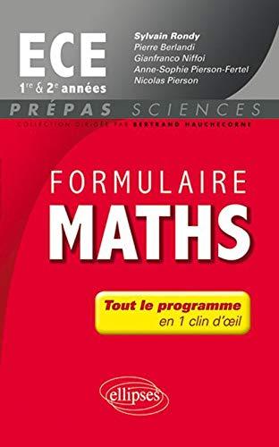 9782729873301: Formulaire Maths Ece Premi�re & Deuxi�me Annee
