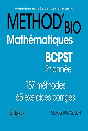 9782729874872: methodix method'bio mathematiques bcpst 2