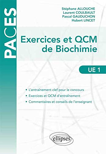 9782729876630: Exercices & QCM de Biochimie
