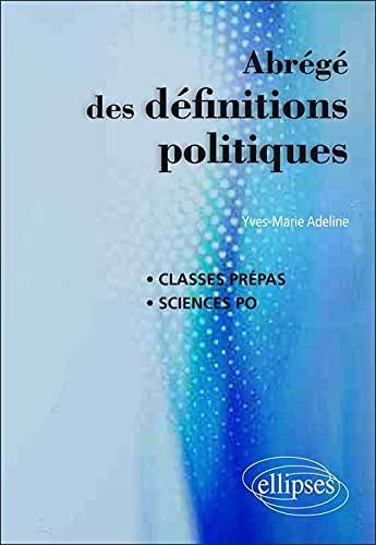 9782729876715: Abrégé des Définitions Politiques