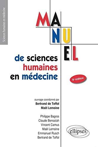 9782729878658: Manuel de Sciences Humaines en M�decine