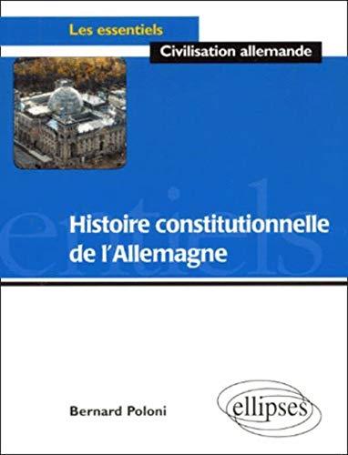 9782729879297: Histoire constitutionnelle de l'Allemagne (French Edition)