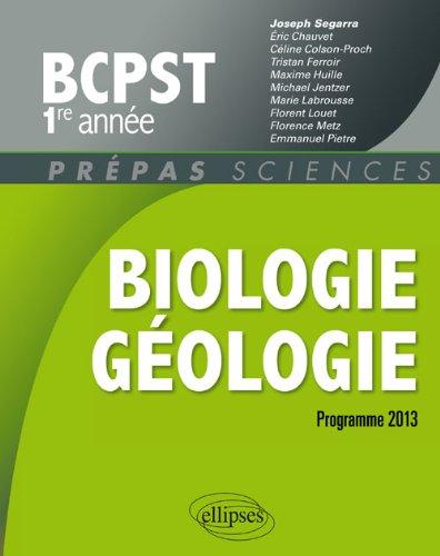9782729882013: Biologie Geologie Bcpts1 Programme 2013