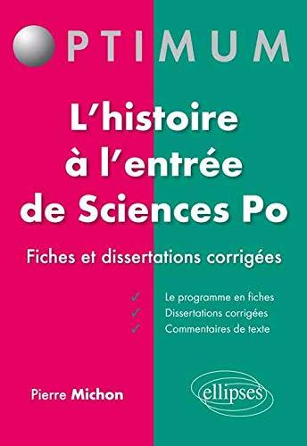 9782729885335: Réussir l'Épreuve d'Histoire à Sciences Po 41 Fiches de Cours Dissertations et Commentaires de Texte Corrigés