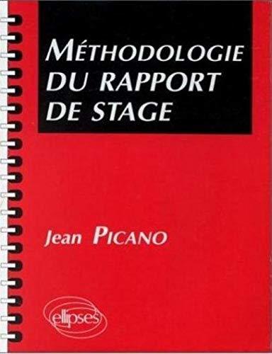 9782729890179: Méthodologie du rapport de stage