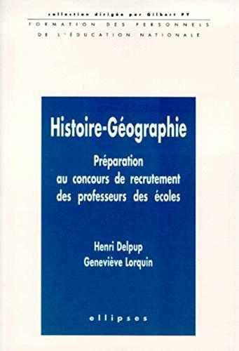 9782729898724: Histoire-géographie: Préparation au concours de recrutement des professeurs des écoles