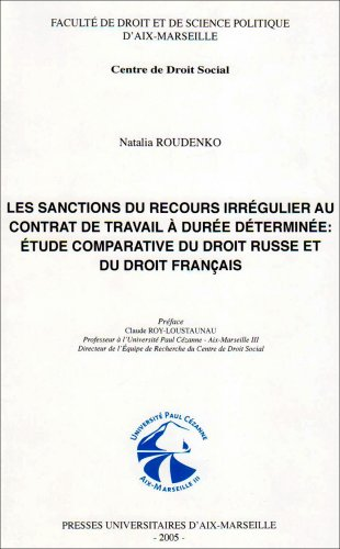 contrat de travail uk 9782731404555: Les sanctions du recours irrégulier au contrat de  contrat de travail uk