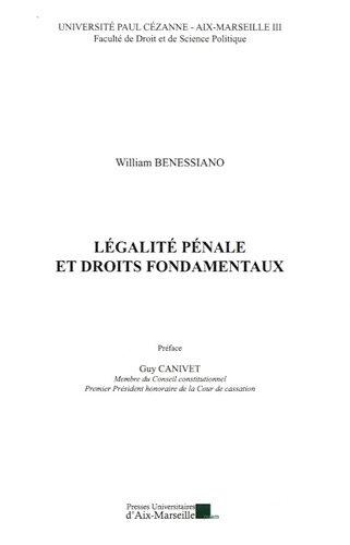 9782731407389: Légalité pénale et droits fondamentaux