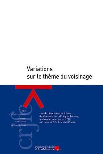 9782731408133: Variations sur le theme du voisinage (French Edition)