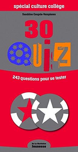 9782732436371: 30 quiz sp�cial culture coll�ge