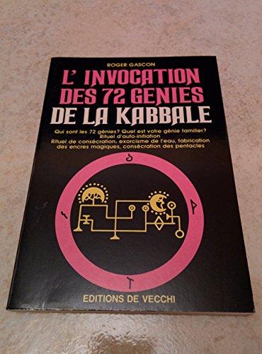 9782732806044: L'invocation des 72 génies de la kabbale