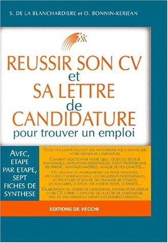 9782732830629: Réussir son CV et sa lettre de candidature