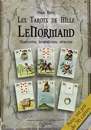 9782732889337: Les tarots de Mlle Lenormand : Signification, interprétation, divination (1Jeu)