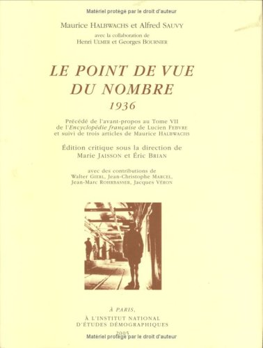 9782733210321: Le point de vue du nombre 1936 (French Edition)