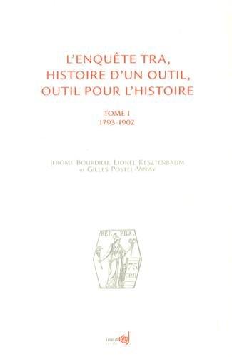 L' enquête TRA: Jerome Bourdieu, Lionel Kesztenbaum, Gilles Postel