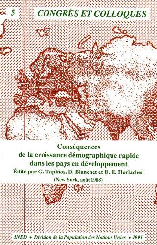 9782733240052: Conséquences de la croissance démographique rapide dans les pays en développement