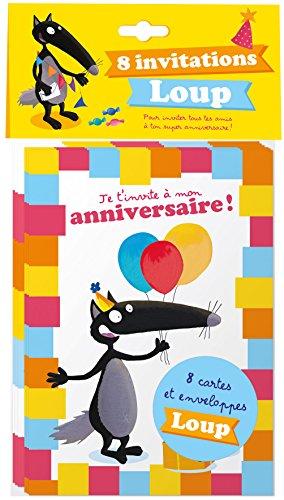 9782733841044 Pack De 8 Invitations Loup Pour Inviter Tous