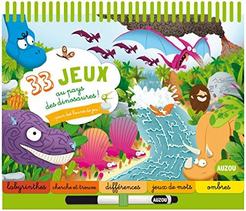 9782733843611: 33 jeux... Au pays des dinosaures !