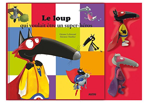 9782733844977: Le coffret Loup et Louve Super-héros : 1 livre et 2 figurines