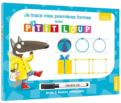 9782733857519: Livre-ardoise de P'tit Loup - Je trace mes premières formes