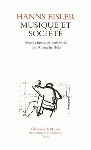 9782735107773: Hanns eisier : musique et soci�t�